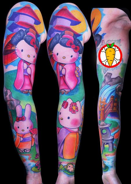 Ed Perdomo - Geisha kittie sleeve 